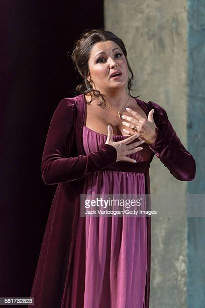 Russian soprano Anna Netrebko performs at the final dress rehearsal prior to the season premiere of the Metropolitan Opera/Sir David McVicar...