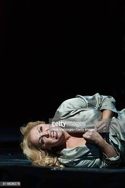 Russian soprano Anna Netrebko performs during the final dress rehearsal prior to the season premiere of the Metropolitan Opera/Adrian Noble...