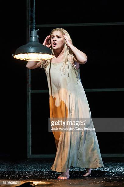 Russian soprano Anna Netrebko performs during the final dress rehearsal prior to the season premiere of the Metropolitan Opera/Adrian Noble...