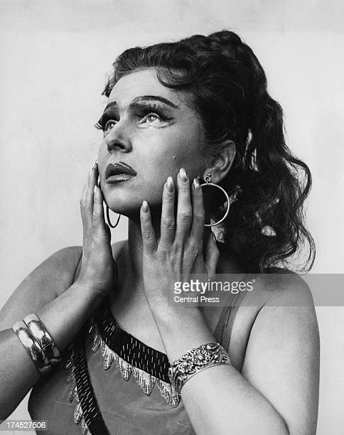 Russian soprano opera singer Galina Vishnevskaya during rehearsals for her title role of 'Aida' at the Royal Opera House London 9th May 1962