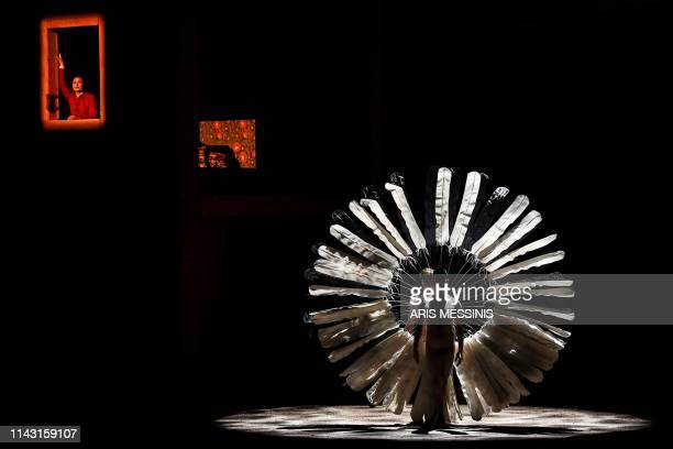 Russian soprano Svetlana Sozdateleva performs during a general rehearsal of 'Lady Macbeth of Mtsensk' an opera by Russian composer Dmitri...