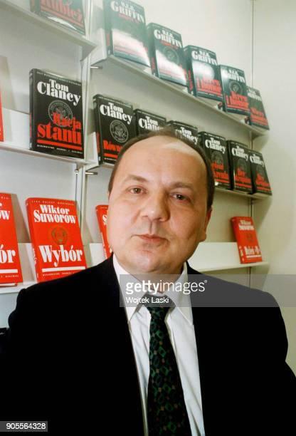 Russian spy Viktor Suvorov at the International Book Fair in Warsaw, Poland, May 1999.