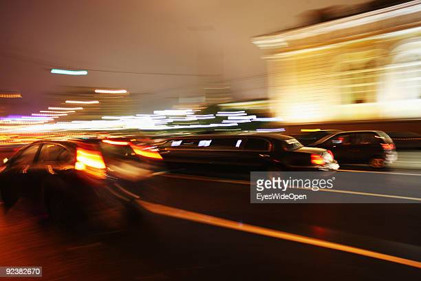 Russian stretchlimousine at Place of the Revolution near the Kremlin Palace on October 14 2009 in Moscow Russia Moscow is the biggest european city...