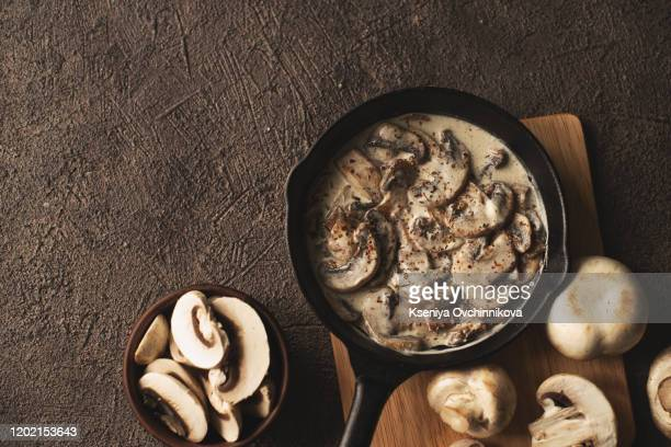 russian style stew stew with mushrooms stroganoff - savory food stock pictures, royalty-free photos & images