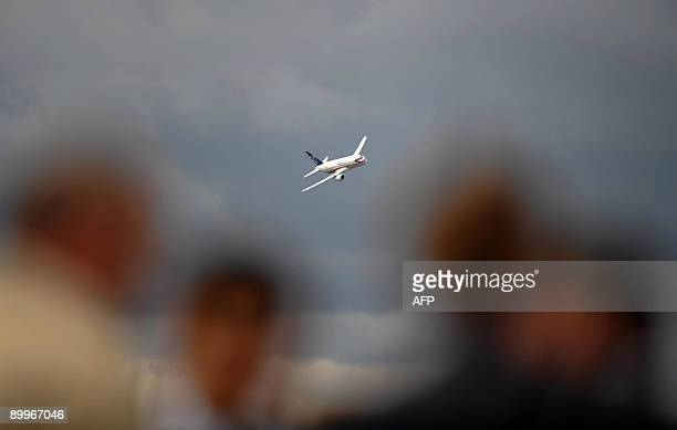 Russian Sukhoi Superjet 100 performs during the MAKS 2009 international aerospace show outside Moscow in Zhukovsky on August 20, 2009. The MAKS...