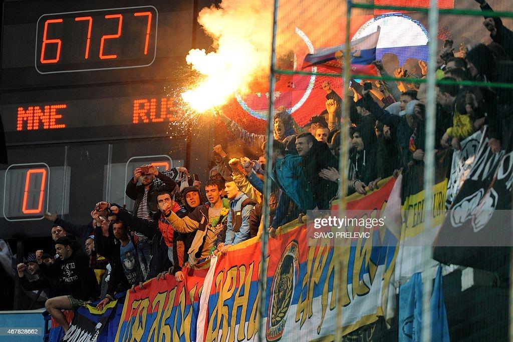 FBL-EURO-2016-MNE-RUS : News Photo