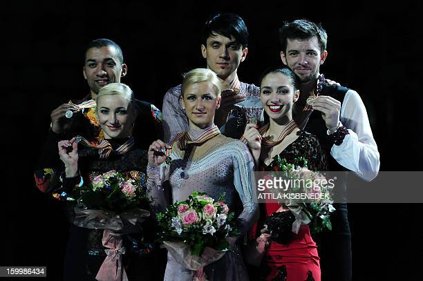 Russian Tatian Volosozhar and Maxim Trankov of gold German Aliona Savchenko and Robin Szolkowy of silver and Italian Stefania Berton and Ondrej...