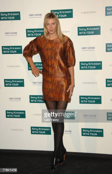 Russian tennis player Maria Sharapova arrives to Sony Ericsson Championship Party at ME Hotel on November 10 2007 in Madrid Spain