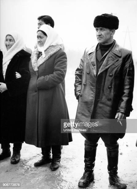 Russian tourists at Alma Ata in Kazakhstan Soviet Union 1970s
