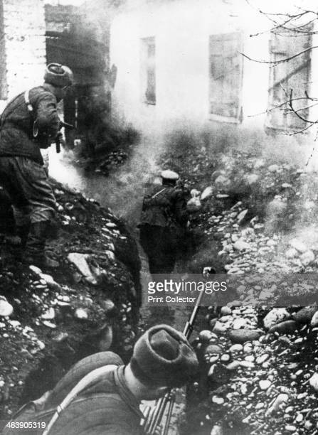 Russian troops liberating a village near Ordhonikidze Caucasus 1942 The German offensive to secure the oilfields of Azerbaijan was halted by the Red...