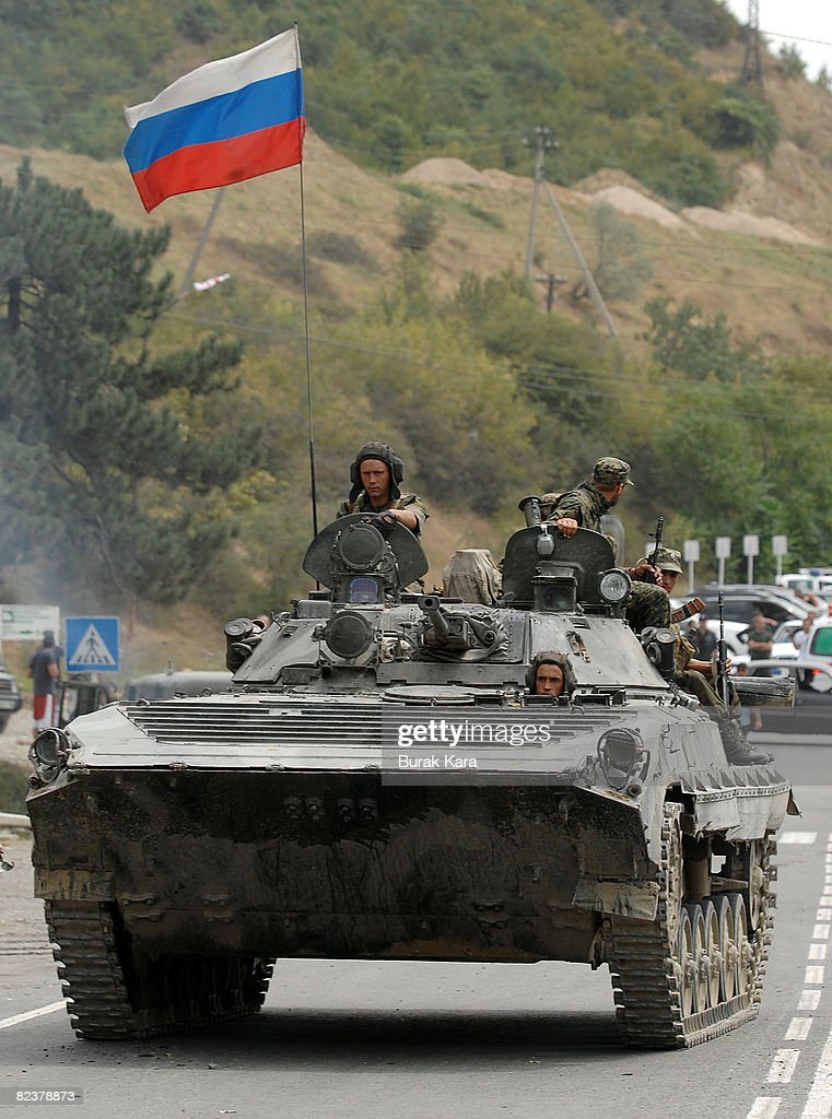 Russian Troops Ordered To Withdraw Following Conflict With Georgia : News Photo