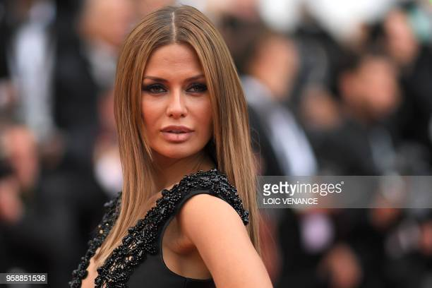 Russian TV presenter and model Victoria Bonya poses as she arrives on May 15 2018 for the screening of the film 'Solo A Star Wars Story' at the 71st...