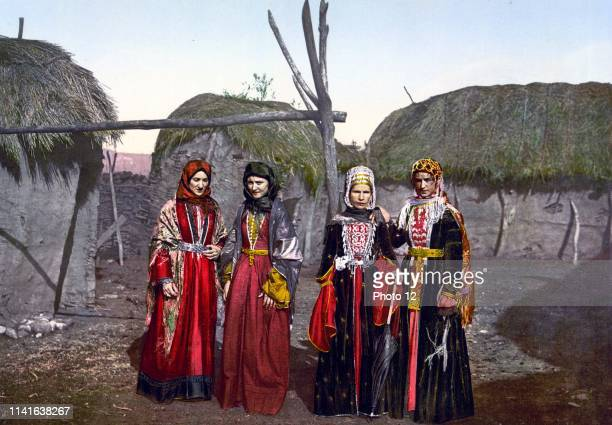 Russian types of Tartar women of the Caucasus Russia between ca 1890 and ca 1900