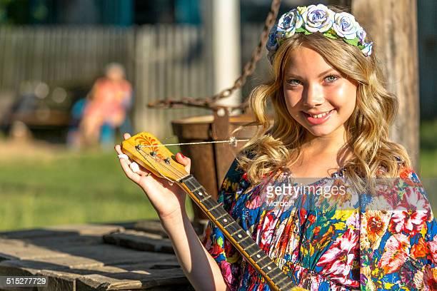 Russische Dorf Mädchen