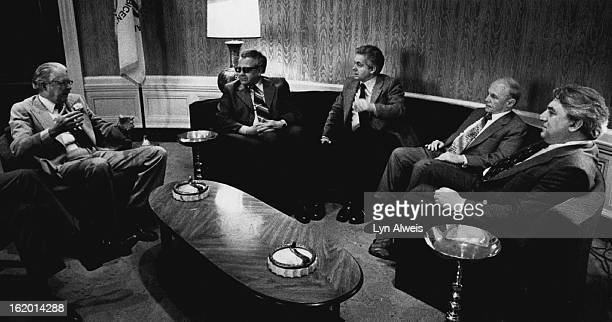 APR 30 1979 MAY 1 1979 Russian Visitors See Mayor Denver Mayor Bill McNichols left visits in his office with four Russians touring the country on an...