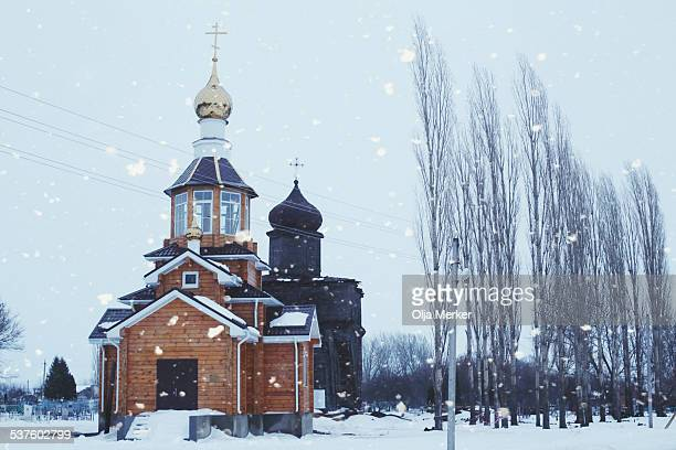 Russian wooden orthodox churches