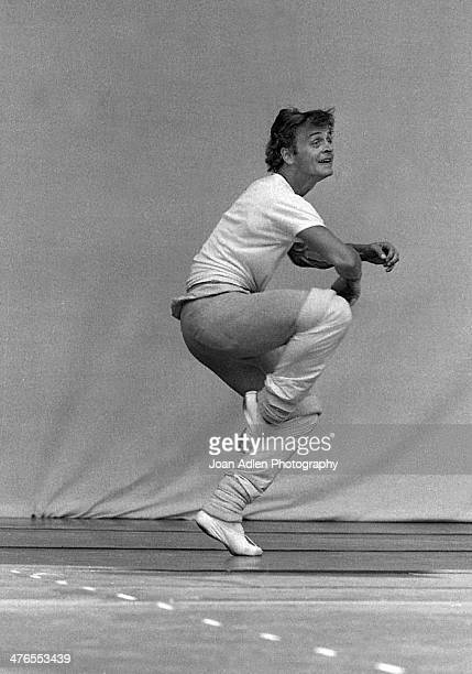 Dancer Choreographer Actor and Artistic Director of The American Ballet Theatre Mikhail Baryshnikov rehearses the Twyla Tharp ballet 'When Push Comes...