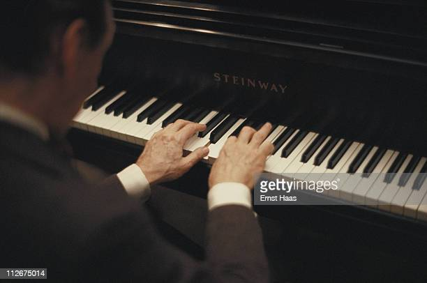 Russian-American pianist Vladimir Horowitz at a Steinway piano in New York City, 23rd March 1978.
