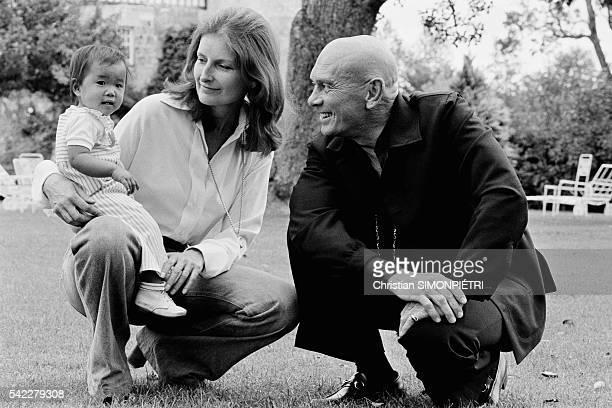 Russian-born American actor, Yul Brynner, with his third wife, Jacqueline de Croisset, and his recently adopted Vietnamese orphan, Mia at their...