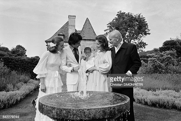 Russian-born American actor,Yul Brynner, his third wife, Jacqueline de Croisset, adopted daughter, Mia, step-daughter, Sophie and her husband Paul at...