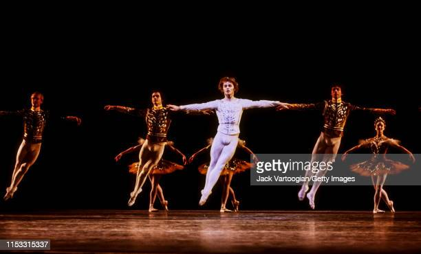 Russian-born American ballet dancer Mikhail Baryshnikov , with the American Ballet Theatre company, performs during a full-dress rehearsal/photo-call...