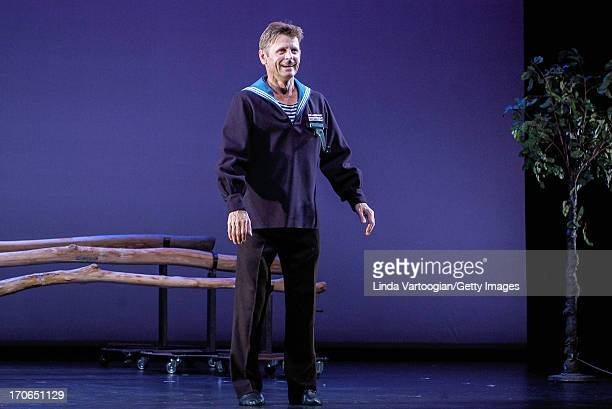 Russianborn American dancer and actor Mikhail Baryshnikov performs in 'Forbidden Christmas or The Doctor and the Patient' at the Lincoln Center...