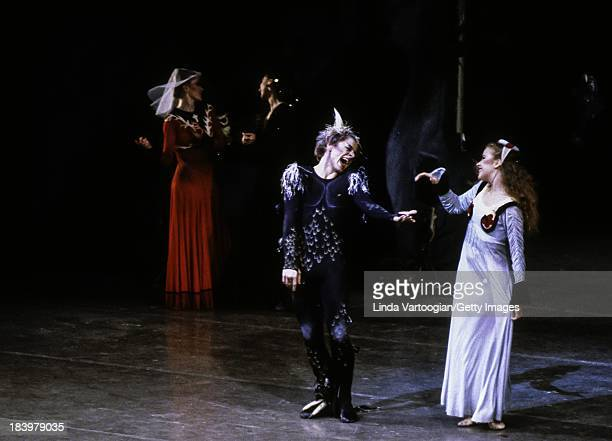 Russian-born American dancer Mikhael Baryshnikov and Carolyn Brown perform in the American Ballet Theater's production of 'Three Virgins and a Devil'...