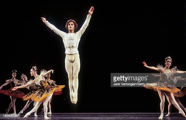 Russian-born American dancer Mikhael Baryshnikov performs in the American Ballet Theater's production of 'Theme and Variations' at Lincoln Center's...