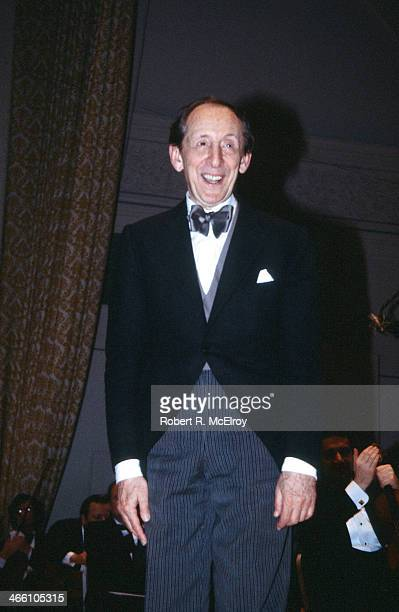 Russian-born American pianist Vladimir Horowitz smiles from the stage at Carnegie Hall, January 8, 1978.
