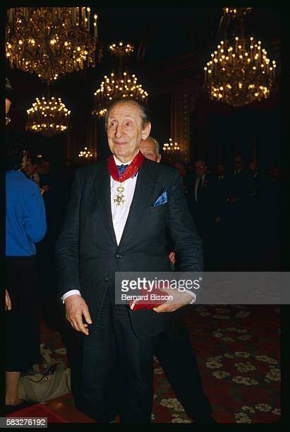 Russian-born American piano player, Vladimir Horowitz, after receiving the French Legion of Honor medal.