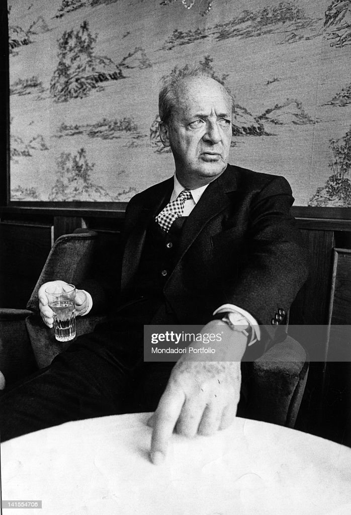 Vladimir Nabokov Sitting In The Palace Hotel : News Photo