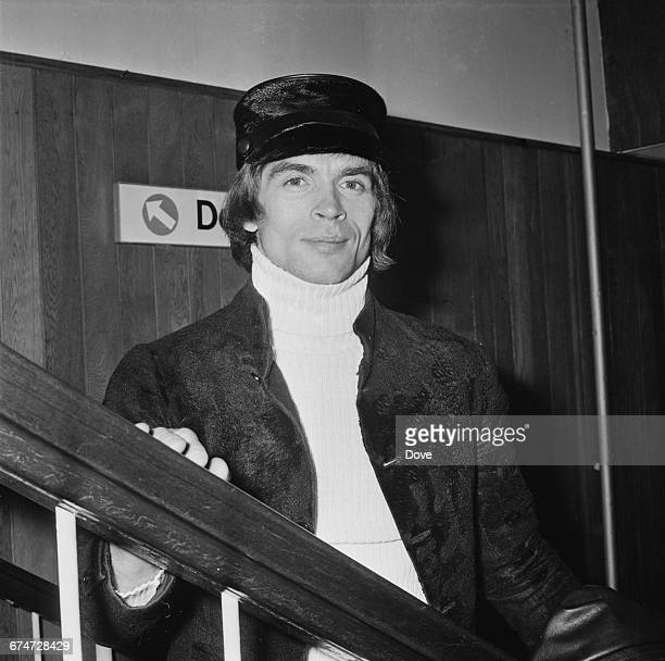 Russianborn ballet dancer Rudolf Nureyev at London Airport UK 10th October 1970