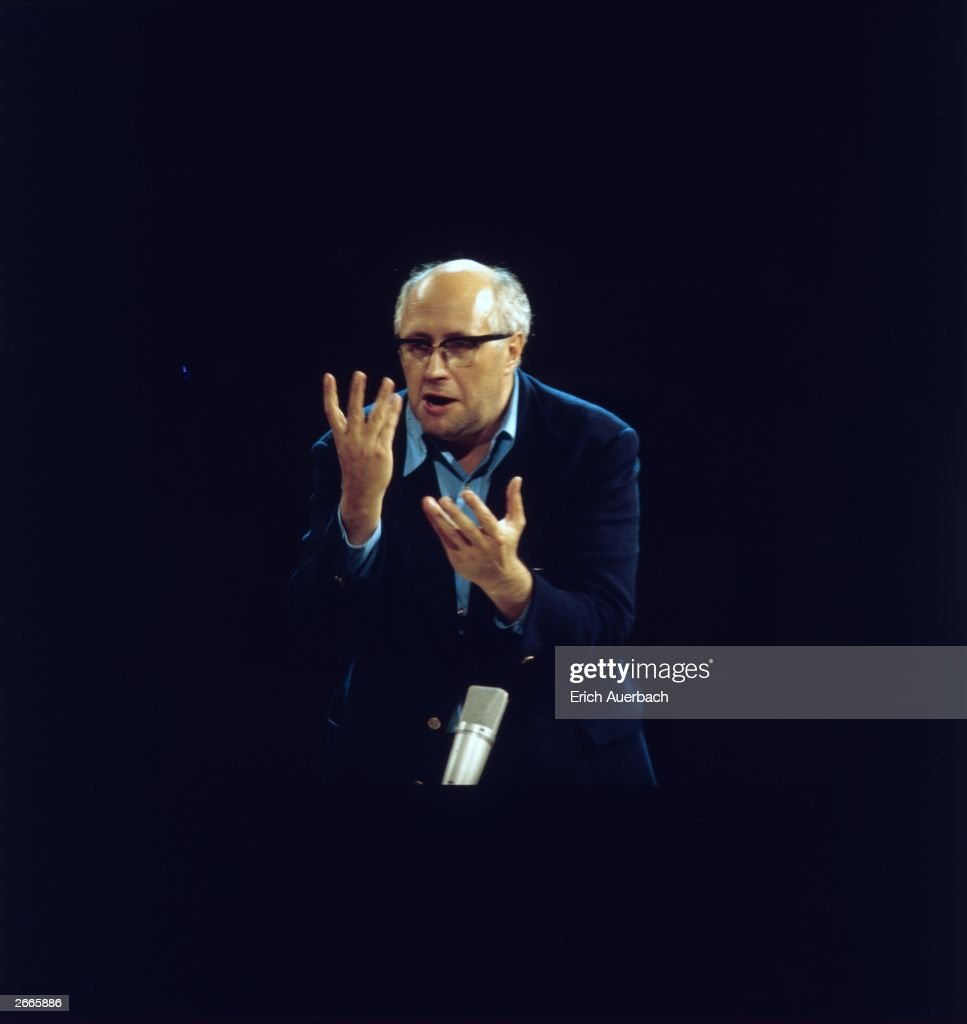 Russian-born cellist and conductor Mstislav Rostropovich, born in Azerbaijan in 1927. A student and teacher at the Moscow Conservatory, he became conductor of Washington's National Symphony Orchestra in 1977.