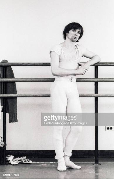 Russianborn French dancer Rudolf Nureyev takes a ballet class at the School of American Ballet Lincoln Center New York New York May 2 1974