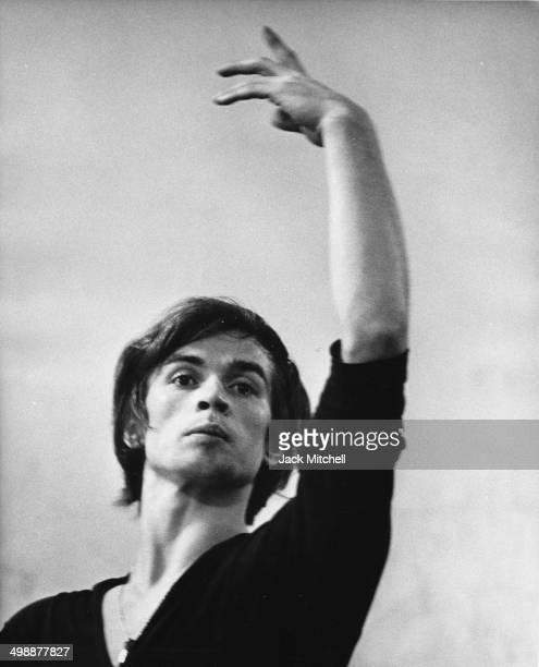 Russianborn French Rudolf Nureyev rehearses at the American Ballet Theatre School New York New York September 1962