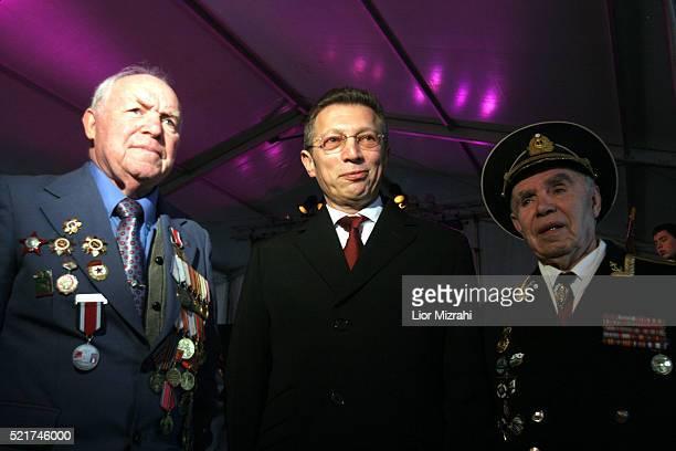 Russianborn Israeli businessman Arcadi Gaydamak is seen during an event with Jewish World War II veterans in Jerusalem Monday February 26 2006...