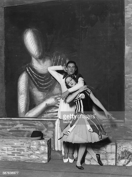 Russianborn prima ballerina Alexandra Danilova and English ballet dancer Anton Dolin as they appear in Sergei Diaghilev's Ballets Russes production...