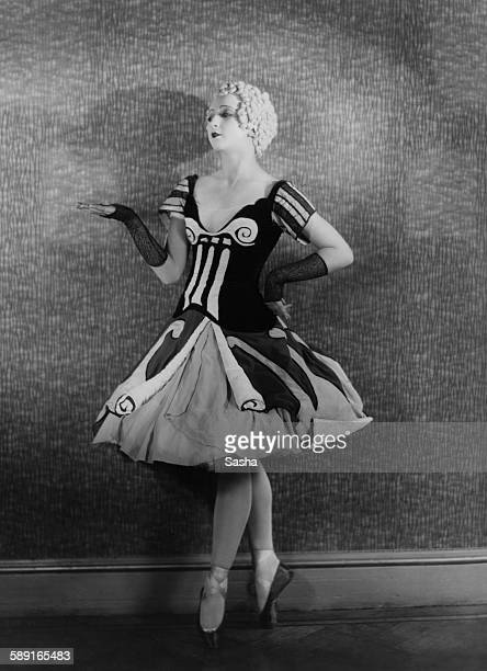 Russianborn prima ballerina Alexandra Danilova as she appears in Sergei Diaghilev's Ballets Russes production of 'Le Bal' London 11th July 1929 Music...