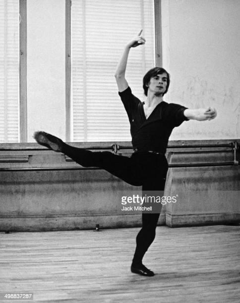 RussianFrench dancer and actor Rudolf Nureyev rehearses 1962