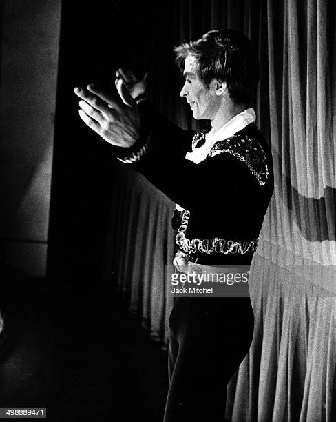 RussianFrench dancer and actor Rudolf Nureyev takes a curtain call after his American stage debut at Brooklyn Academy 1962
