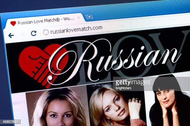 Russianlovematch.com webpage on the browser