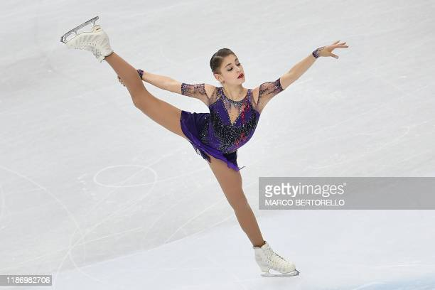 Russia's Alena Kostornaia performs during the Ladies Free Skating program at the ISU Grand Prix of figure skating Final 2019 on December 7 2019 in...