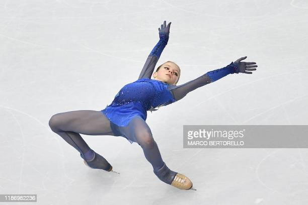 Russia's Alexandra Trusova performs during the Ladies Free Skating program at the ISU Grand Prix of figure skating Final 2019 on December 7, 2019 in...
