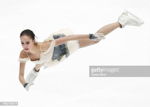 Russia's Alina Zagitova performs in the women's short program at the Rostelecom Cup in Moscow on Nov 16 2018 ==Kyodo
