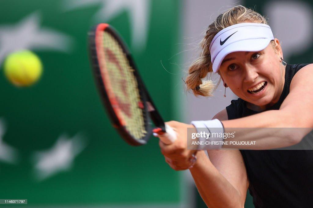 TOPSHOT-TENNIS-FRA-OPEN-WOMEN : News Photo
