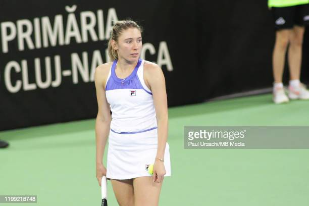 Russia's Anna Kalinskaya during the 2020 Fed Cup Qualifier between Romania and Russia on February 7 2020 in ClujNapoca Romania