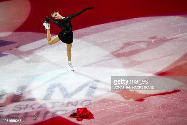 Russia's Anna Shcherbakova performs during the Gala Exhibition event of the ISU World Figure Skating Championships in Stockholm on March 28, 2021.