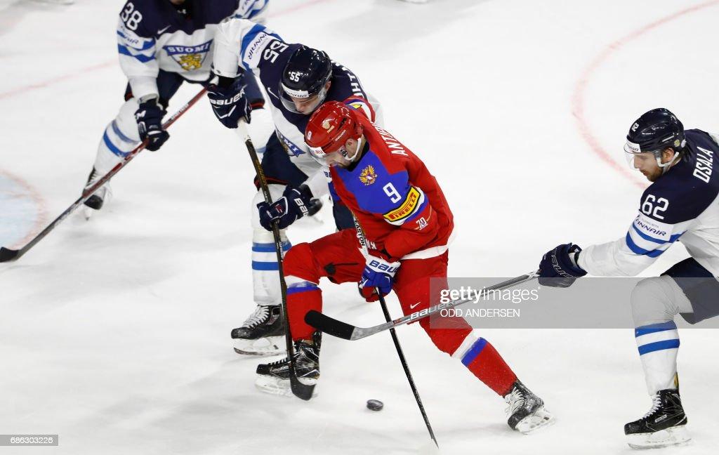 IHOCKEY-WORLD-RUS-FIN : News Photo