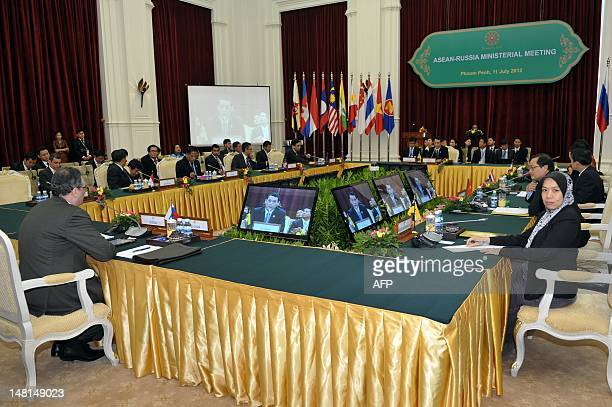 Russia's deputy Foreign Minister Igor Morgulov sits during the ASEAN-Russia ministrial meeting at the Peace Palace in Phnom Penh on July 11, 2012....