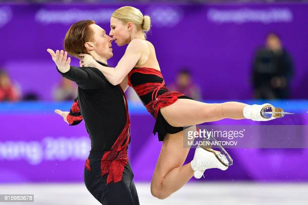 TOPSHOT Russia's Evgenia Tarasova and Russia's Vladimir Morozov compete in the figure skating team event pair skating short program during the...